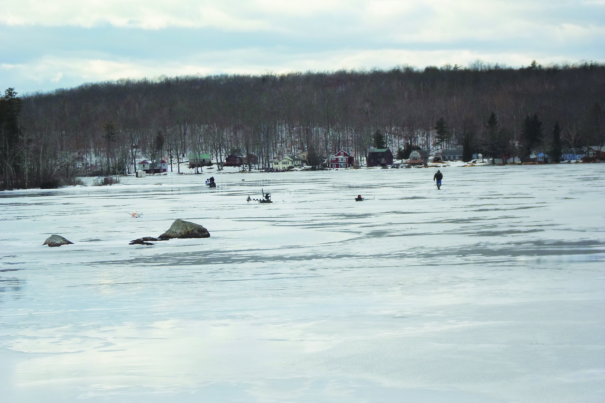 Ice Fishing on Togus Pond