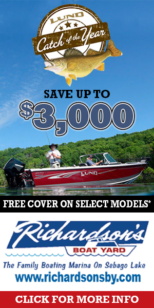 Save up to $3000 on select models at Richardson's Boat Yard on Sebago Lake.